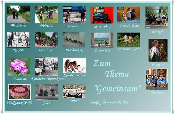 """COLLAGE ZUM THEMA """"GEMEINSAM"""""""