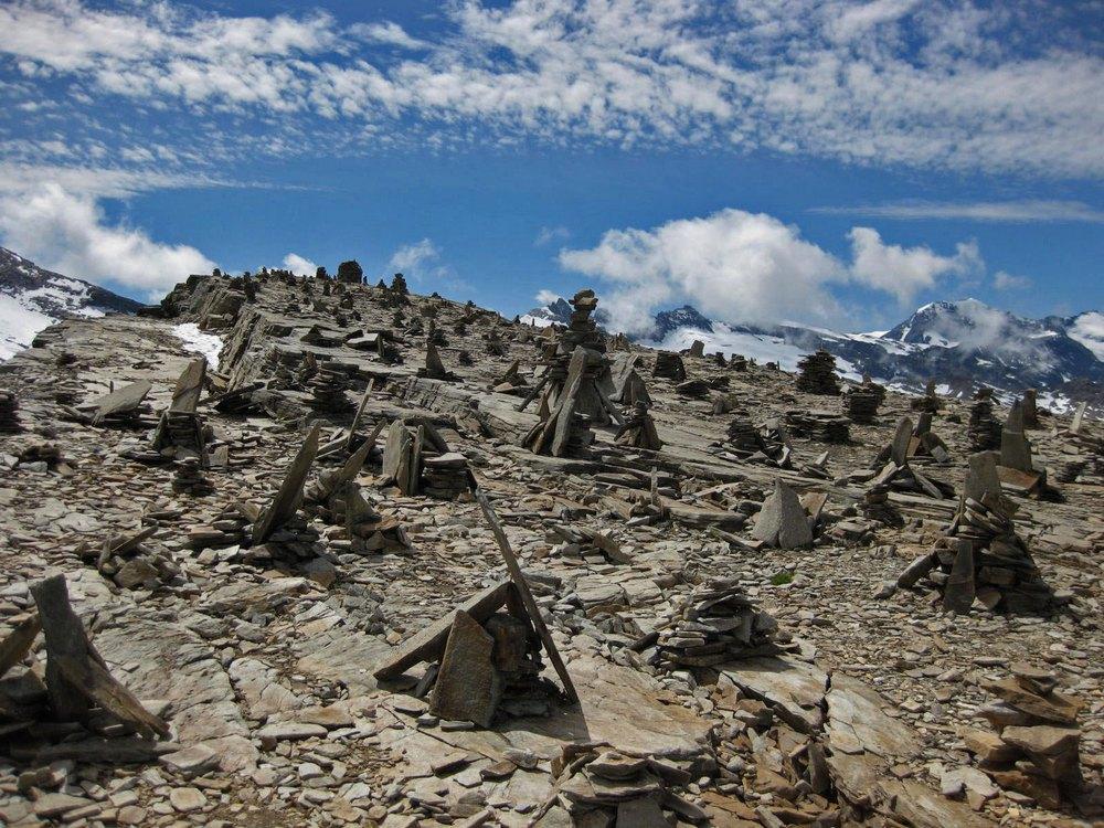 Colle del Carro und die Steinmännchen
