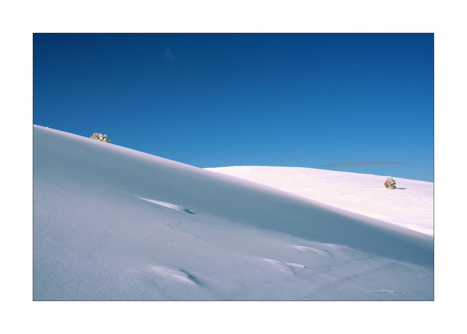 Collines de neige