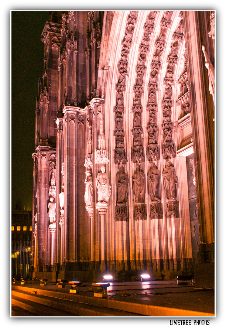 Cologne Cathedral in Show Light