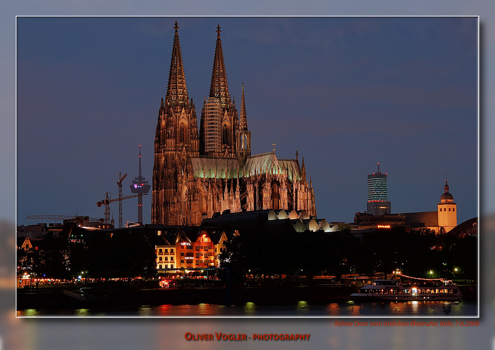 Cologne from East River Side at Night
