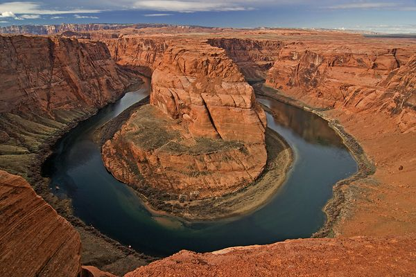 Colorado River passes Red Rock Country