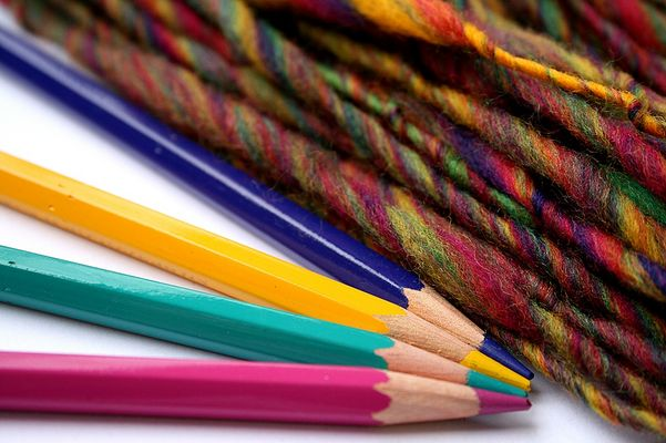 colored pencil yarn