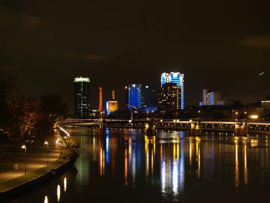 Colores nocturnos de Frankfurt