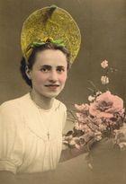 Coloriertes Porträt meiner Mutter