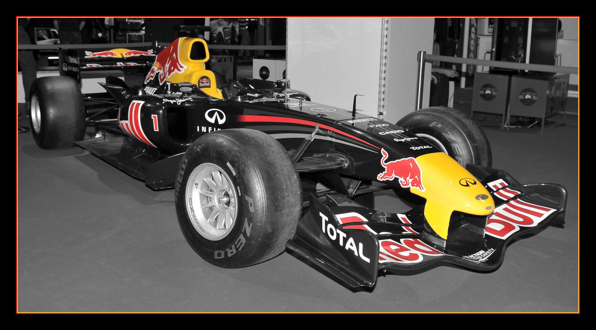 Colorkey des Red Bull von S. Vettel