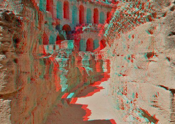 Coloseum El Djem - Tunesien II (3D für rot/cyan Brille)