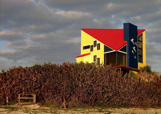 Coloured House at Cocoa Beach