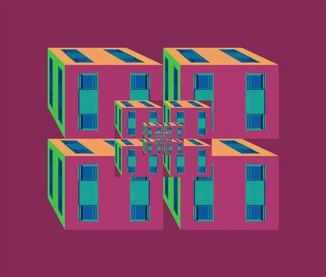 Coloured Houseboxes