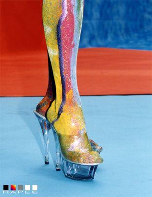 ... coloured legs ..