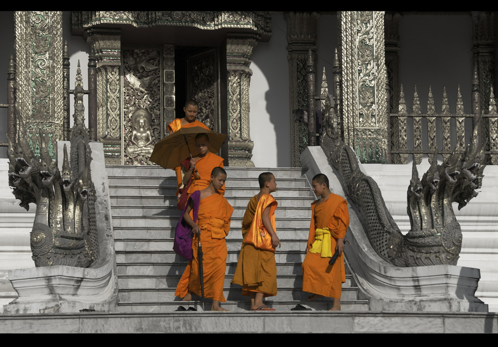 colourful monks