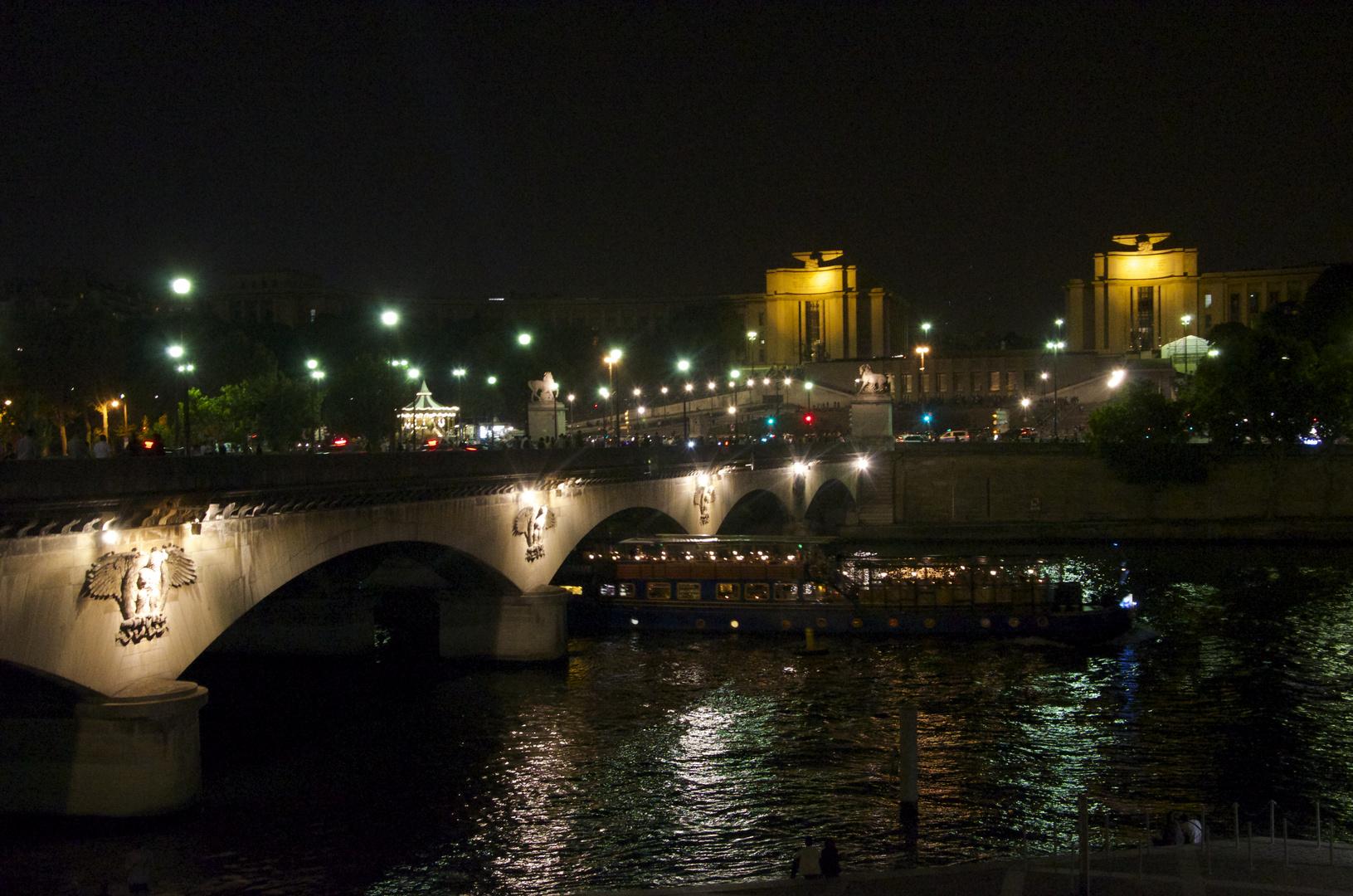 Colourful Paris at night