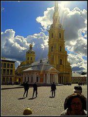 Colpo di sole sullaCattedrale dei SS.PIetro e P AOLO.. S.Pietroburgo
