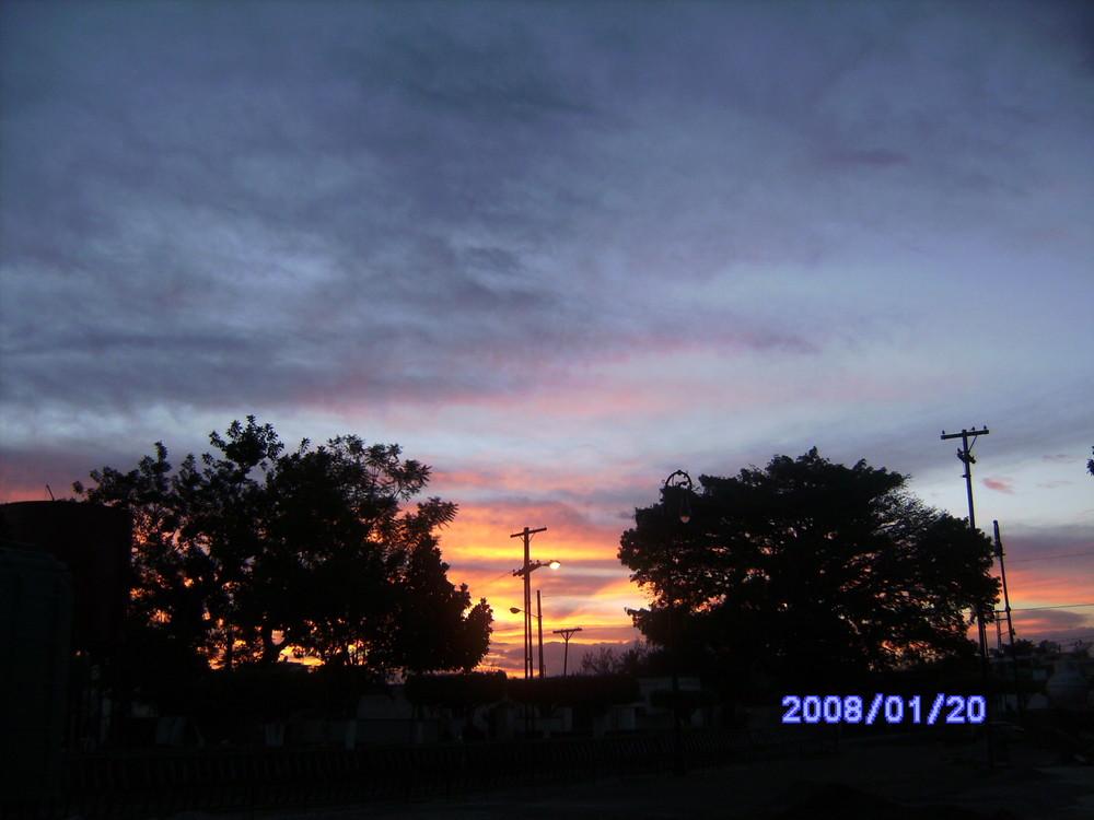 combinacion de colores en el cielo