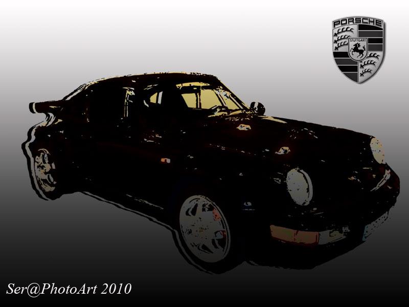 Comic Porsche