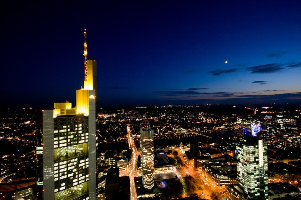 Commerzbank Tower aus 200 Metern Höhe