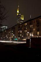 Commerzbank-Tower Frankfurt - nachts vom Main
