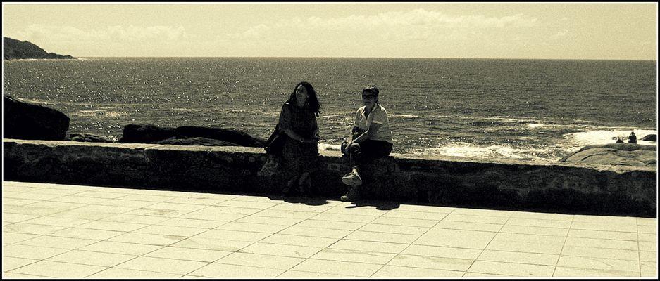 Con le spalle all'oceano!.....