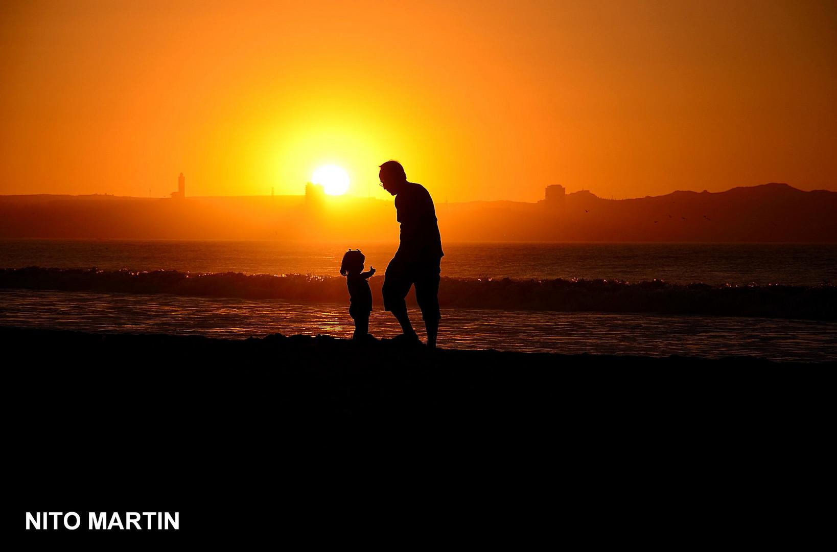 Con Papá ...