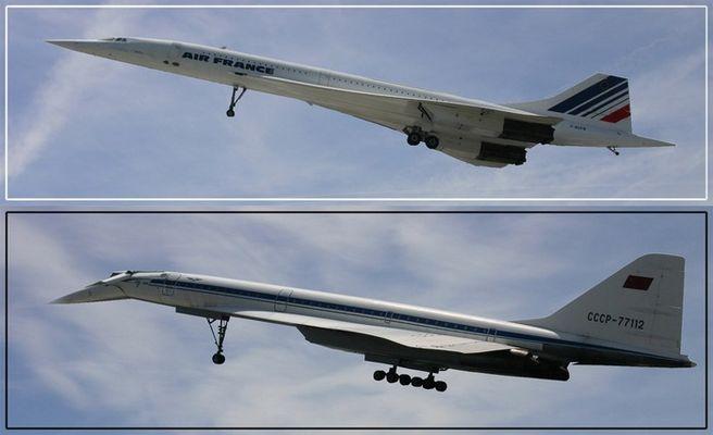 Concord + Tupolev 144 beim Start...