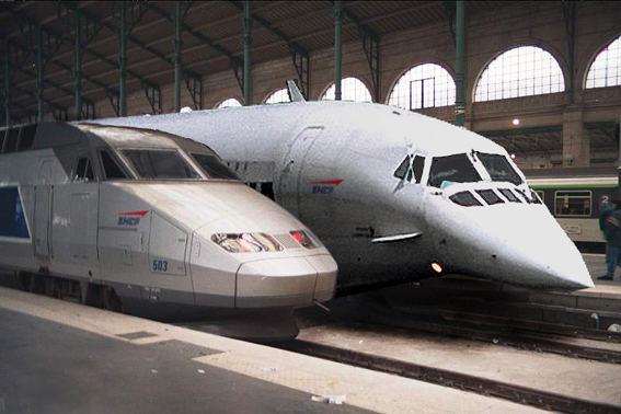 Concorde en gare