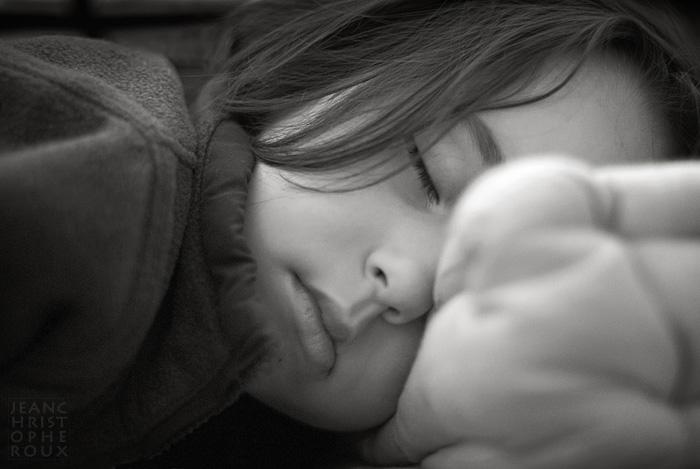 Confortablement endormie.