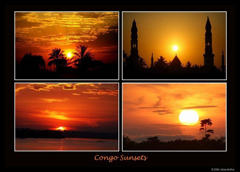 Congo sunsets...