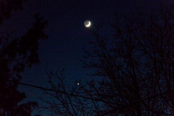 Conjonction Lune - Vénus  (ce soir)