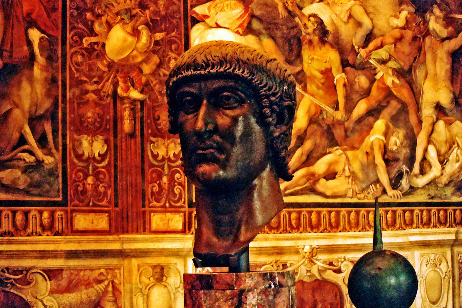Constantine I [Great] Head & Constantine Globe, Capitoline Museums, Rome