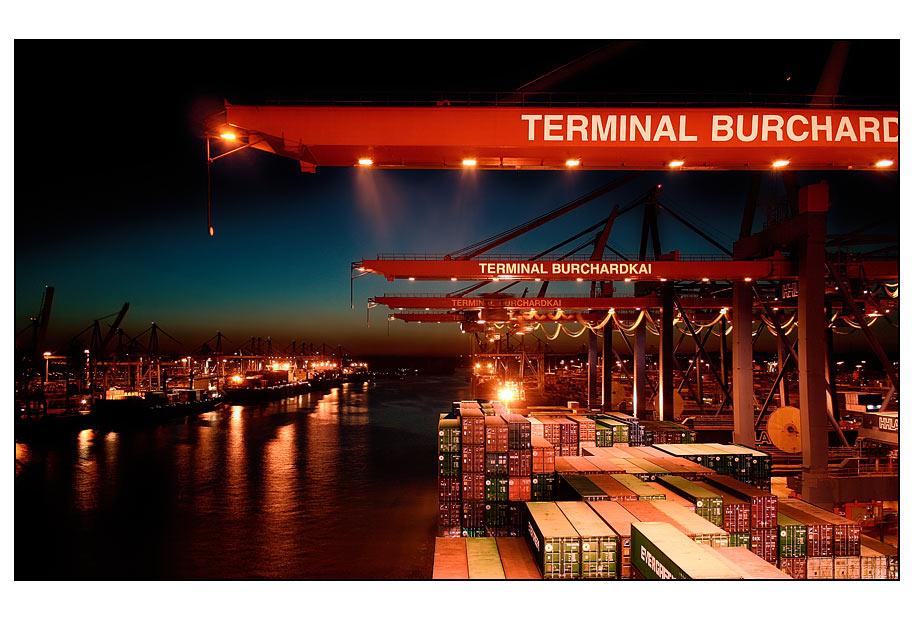   Container-Hafen - Hamburg  