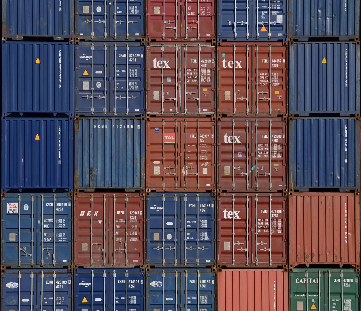 Containerhafen Zeebrugge Seafront / Brügge / Belgien