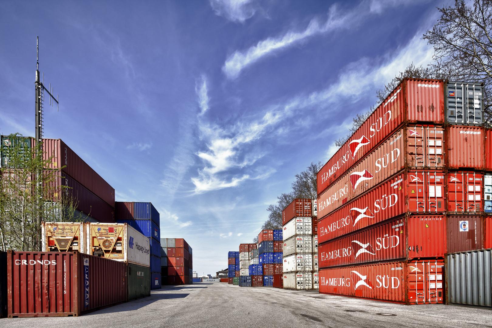 Containerhof im Mannheimer Handelshafen