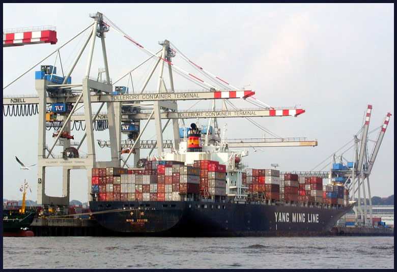 Containerschiff in HH