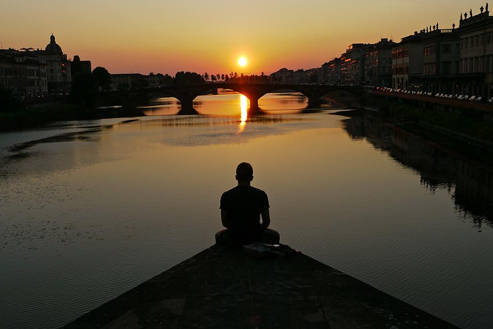 Contemplation sur l'Arno
