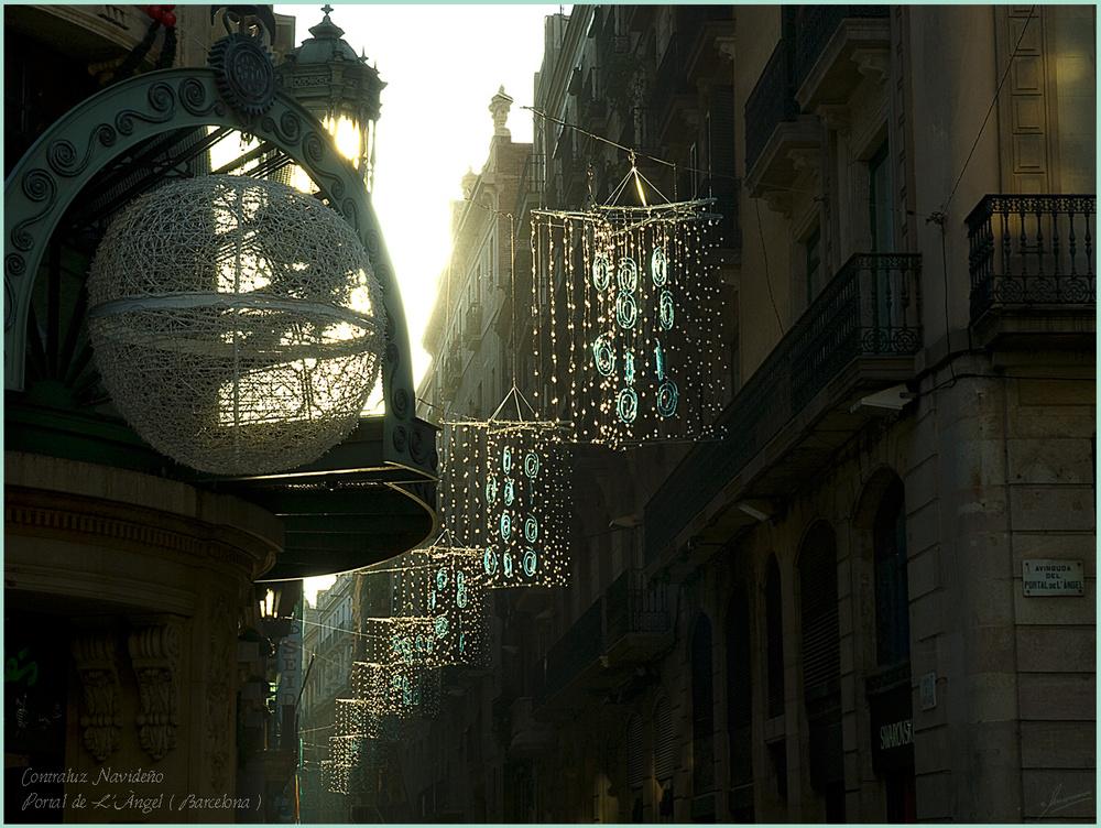 Contraluz Navideño Portal de L'Àngel ( Barcelona )