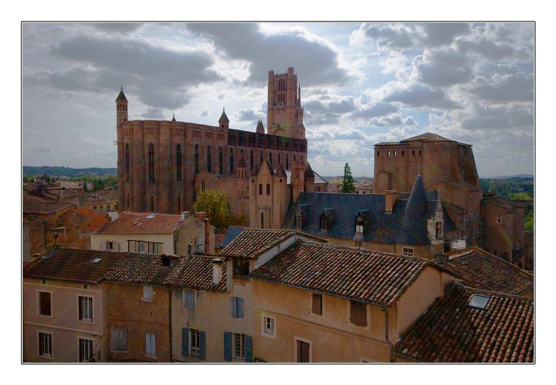 Contre jour sur la cathédrale d'Albi