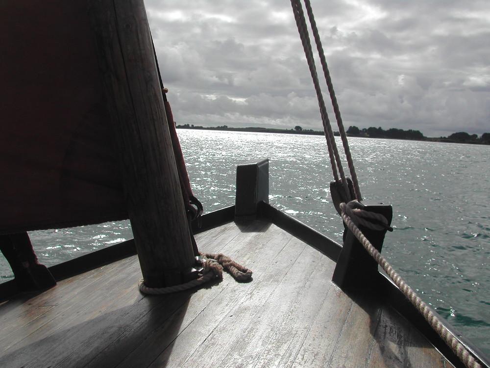 contre-jour sur le Golfe du Morbihan
