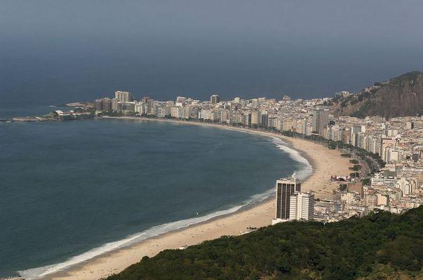 Copacabana in ihrer ganzen Länge
