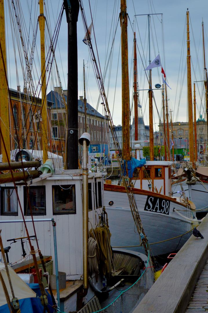 Copenhagen.Nyhavn.Ship