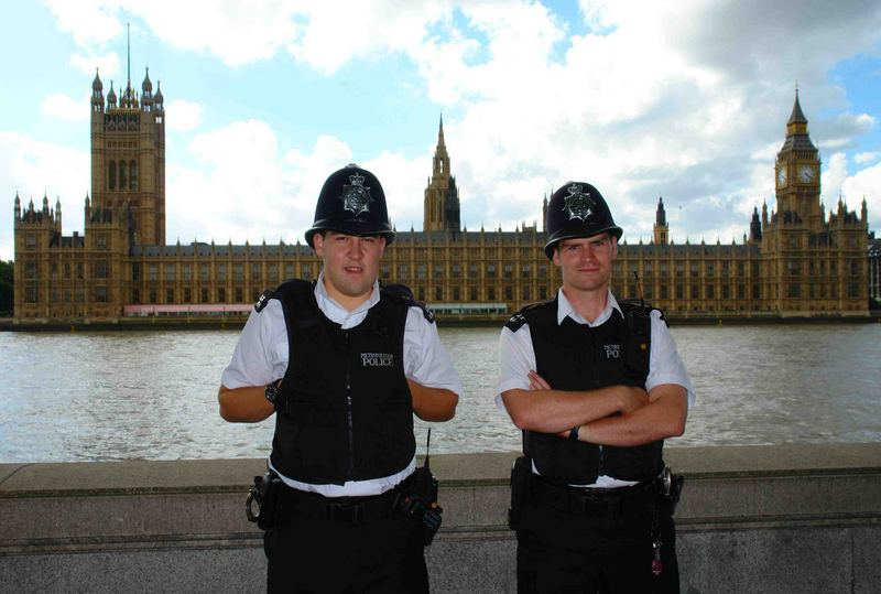 Cops and Parliament - London, UK