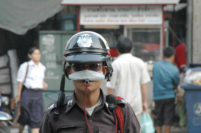 Cops in Bangkok 2005
