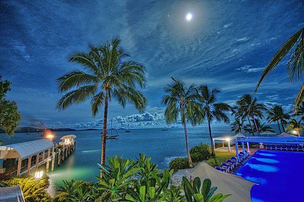 Coral Reef Hotel, Airlie Beach, Australien (HDR-Aufnahme)