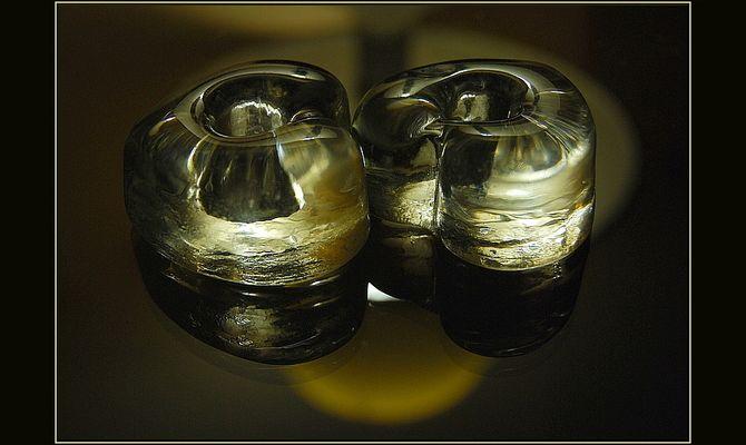 Corazones de vidrio