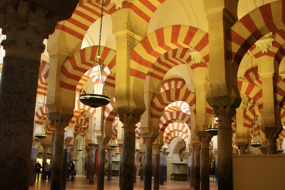 Cordoba Andalusien, Säulen und Bögen in der Mezquita