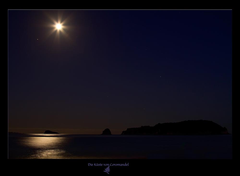 Coromandel kurz nach Mondaufgang