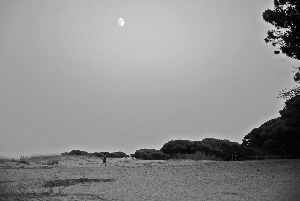 correndo sotto la luna