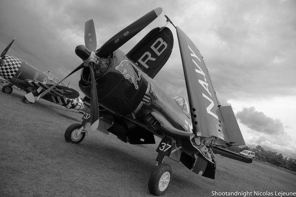 Corsair F4-U 4 Red Bull statique à la Ferté Alais 2013