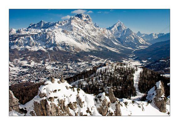 Cortina d'Ampezzo und Monte Cristallo