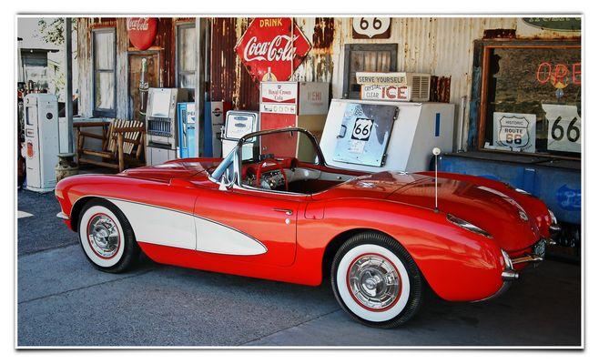 Corvette auf Route 66