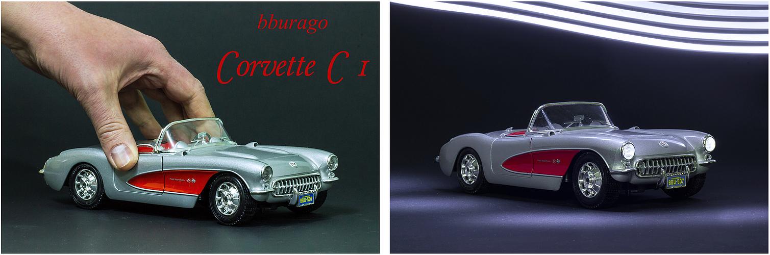 Corvette C 1 Vorher-Nachher
